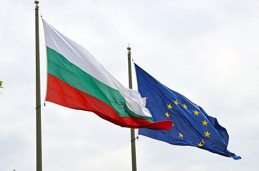 Flags, Bulgaria, European Union, Ec