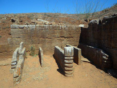 Grave, Etruscan, Excavations, Archaeology, Tuscany