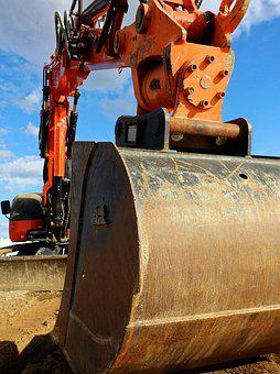 Excavators, Machine, Construction Machine, Site