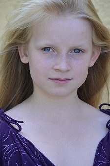 Girl, Freckles, Close Up, Eyes, Long Hair, Blond