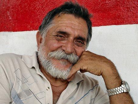 Cuba, Man, Portrait, Old Man, Beard, Relaxed, Face
