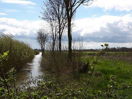 East Frisia, Fehn, Channel, Landscape, Friesland
