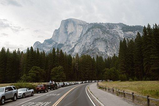 Yosemite, Half Dome, Nature, Dome, California, National