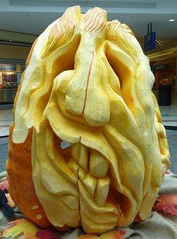 Pumpkin, Carved, Halloween, Face, Squash, Yellow