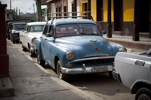 Cuba, Santiago, Oldtimer, Havana, Old Timer, Retro