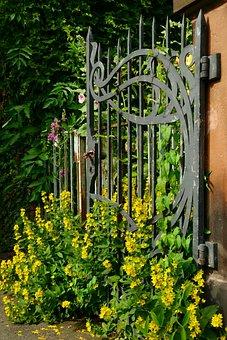 Goal, Iron, Old, Overgrown, Metal, Input, Iron Gate