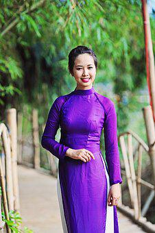 Vietnam, Long Dress, Vietnamese, National, Girl, Female