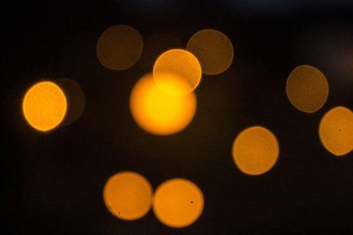 Points, Orange, Orange Dots, Background, Point Of Light