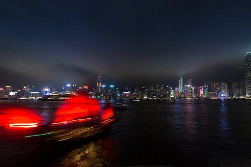 Hong Kong, Peek, Night, Long Exposure, Lights