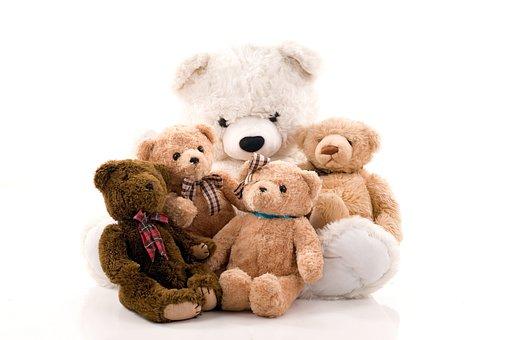 Teddy Bear, Misiek, The Mascot, Plush, Studio, White