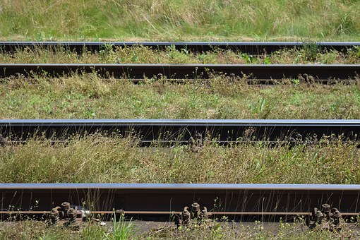 Gleise, Railway Tracks, Parallel, Double Track