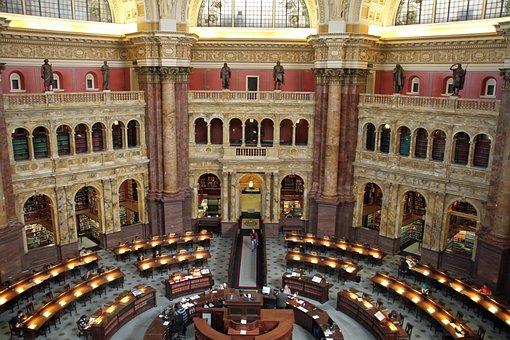 Public Library, Reading Room, Washington Dc, Literature