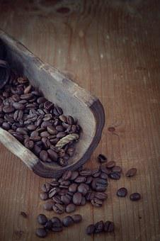 Coffee, Coffee Beans, Roasted, Brown, Dark, Caffeine