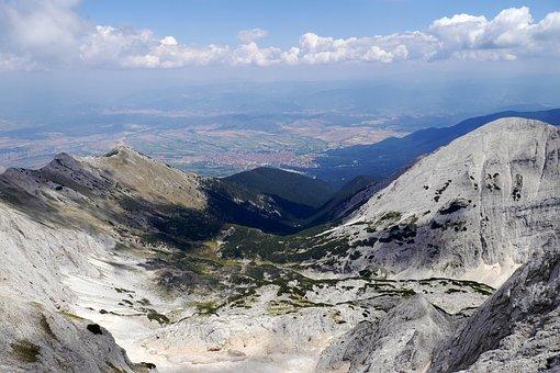 Pirin, Bulgaria, Rocks, Mountains, City, Clouds, Bansko