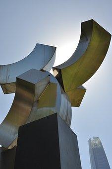 Park, Figures, Sculpture, Santiago De Chile