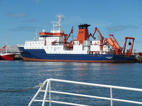 Iceland, Reykjavik, Ship, Research, Port