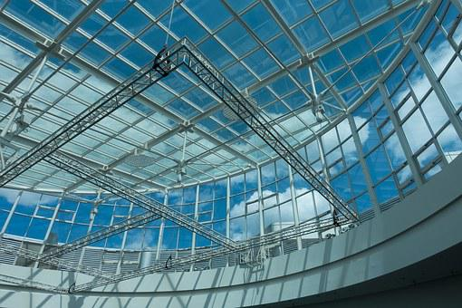 Architecture, Building, Modern, Glass, Steel, Dome