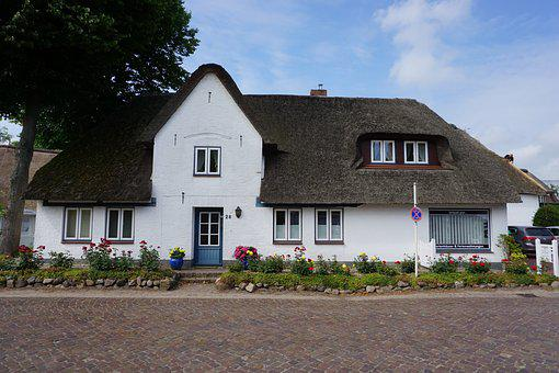 Friesland, Föhr, Thatched Roof, Architecture