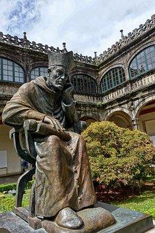 Santiago De Compostela, Statue, Figure, Thinker