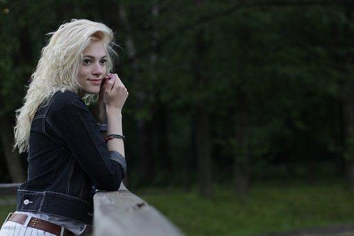 Girl, Model, Blonde, Slav, Woman, Portrait, View, Sunny