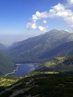 Bulgaria, Mountains, Rila, Clouds, Lake, Water, Country
