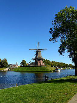 Mill, Windmill, Building, Sky, Wing, Wind, Friesland