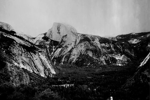 Yosemite, National Park, California, Half Dome