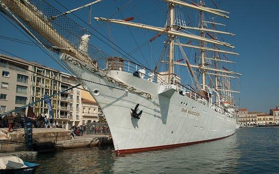 France, Sète, Port, Sailboat, Mediterranean, Boat