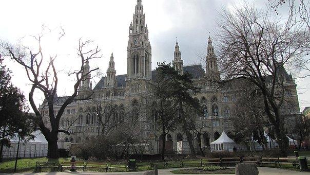 Vienna City Hall, Austria, Building, Sightseeing