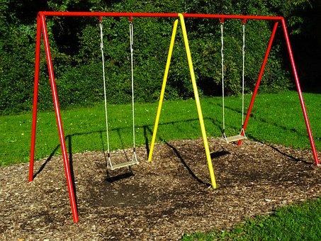 Swing, Children's Playground, Swing Seat, Rope