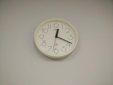 Clock, Clock On Wall, Time, Hour, Minute, Clock Face
