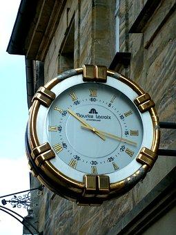 Clock, Lacroix, City, Forchheim, Bavaria