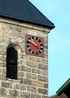 Clock Tower, Steeple, Church Of St Wolfgang, Hausen