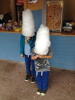 Cotton Candy, Coneheads, White, Heads, Children