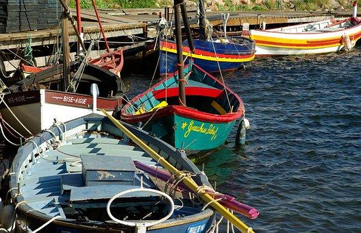 France, Sète, Mediterranean, Port, Fishing Boats