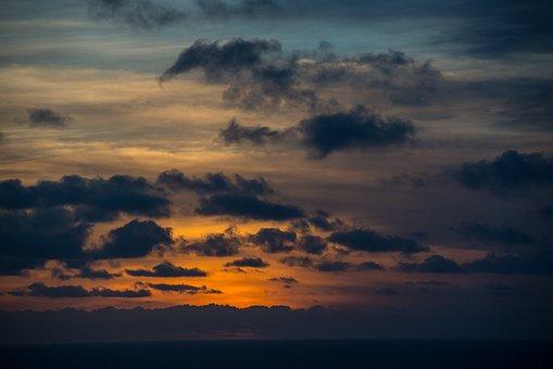 Fuerteventura, The Sun, Sky, Clouds, Landscape