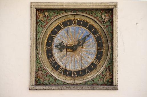 Clock, Tower, Antique, Thalene, Medieval, Estonia