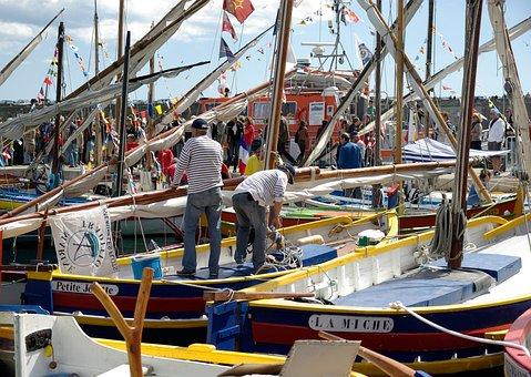 Boats, Port Of Sète, Mediterranean, Port