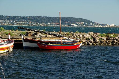 France, Sète, Port, Fishing Boats, Mediterranean