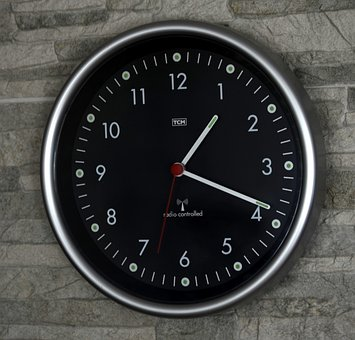 Clock, Wall, Time, Time Piece, Dial, Rim, Metal