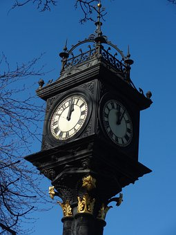 Middlesbrough, Park, Clock, Victorian, Time