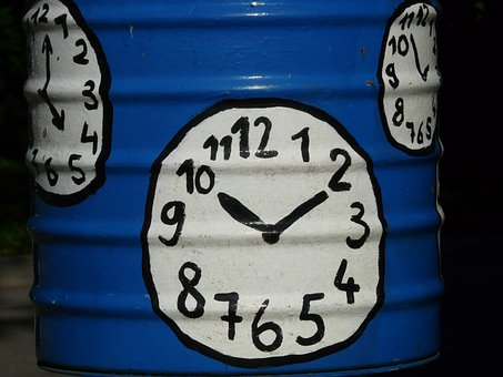 Clock, Time Of, Clock Face, Pointer, Paint, Painted