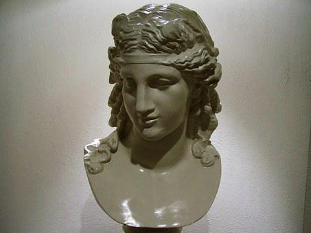 Female Bust, Porcelain Sculpture, Ornaments