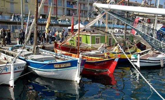 Boats, Port, Mediterranean, Port Of Sète