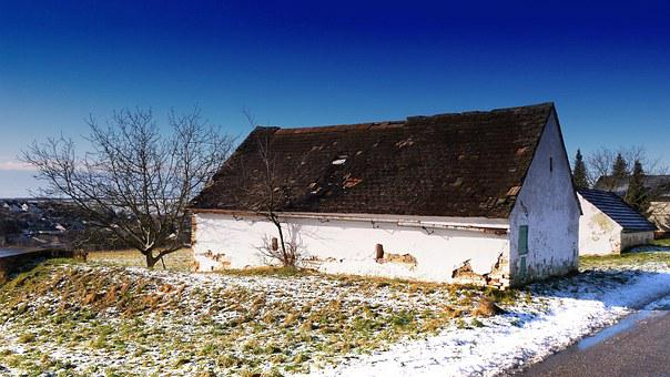 Presshaus, Home, Village, Rest, Agriculture, House Roof