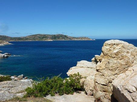 Corsica, Rock, Sea, Pamorama, Coast, Bay, Viewpoint