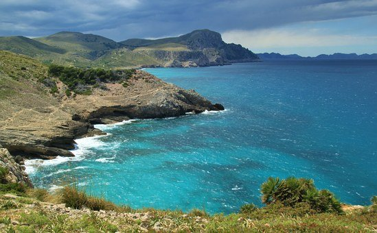 Sea, Water, Wave, Clouds, Coast, Sky, Rock, Stones