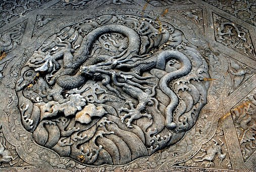 Carving, Stone, Rock, Stone Carving, Dragon, China
