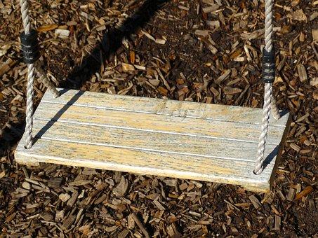 Swing, Swing Seat, Rope, Playground