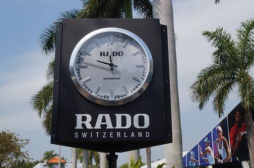 Clock, Sign, Outdoor, Time, Switzerland, Rado